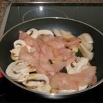 Pollo con setas paso 2
