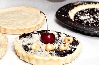 Tartalettes de chocolate y frutos rojos