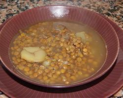 Receta de sopa de lentejas con naranja