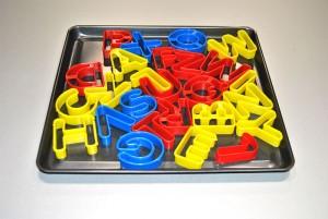 Cortadores de galletas con forma de letras