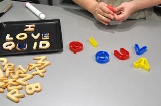 Galletas con forma de letras