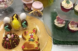 Bizcochos de Pascua con forma de conejito