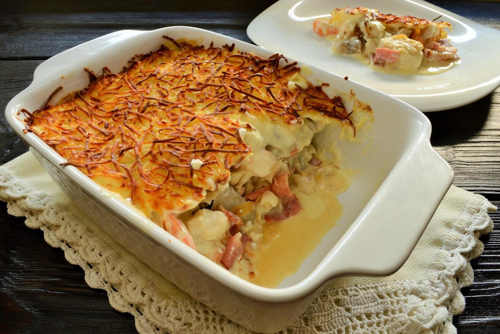 Merluza al horno en salsa de yogur el chef de la casa - Salsa para verduras al horno ...