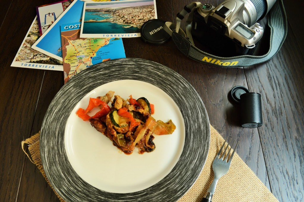wok de pavo con verduras
