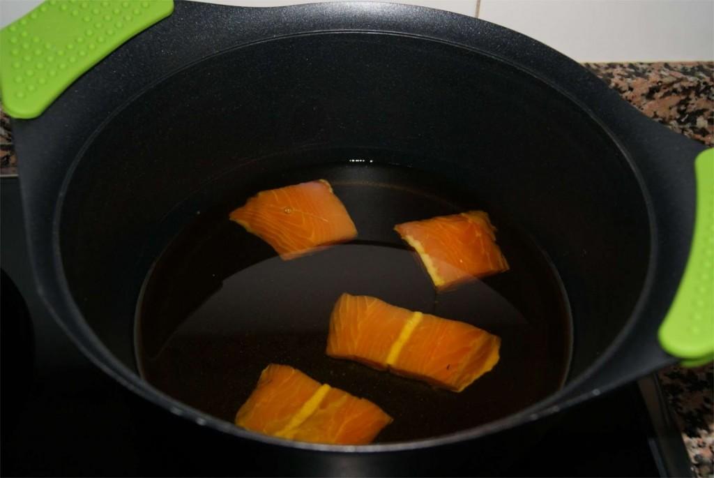 Paquetitos de salmon paso 1