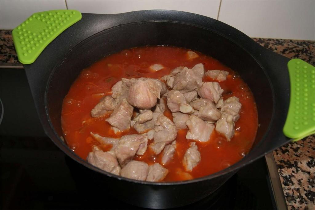 Pisto con carne paso 5