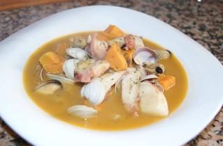 Sopa de frutos del mar