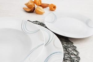 vajilla porcelana blanca