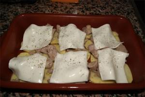 paso 2 carne ajillo queso