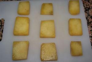 preparación cangrejo canapé