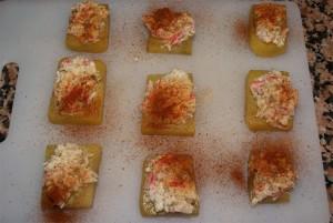 bocaditos de cangrejo y patata