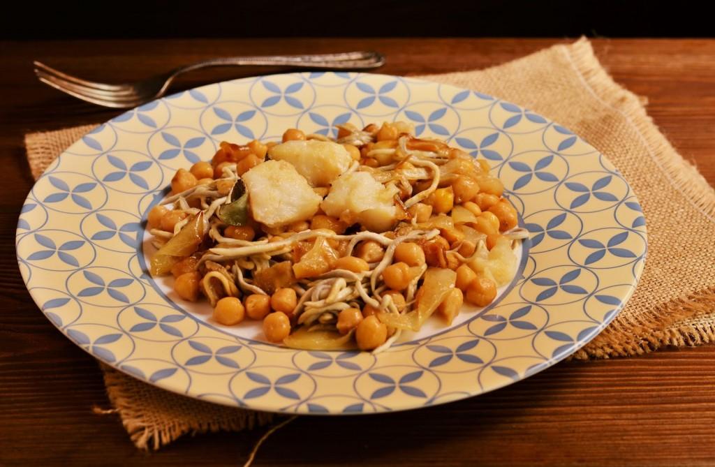 receta garbanzos bacalao