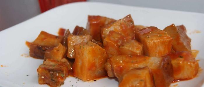 Papada con tomate picante