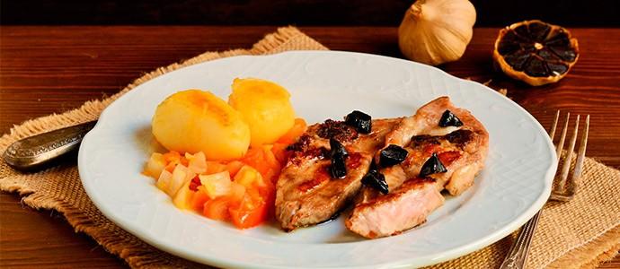receta-chuletas-pavo-al-ajo-negro-miel