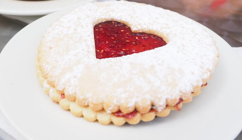galletas de mermelada de fresa