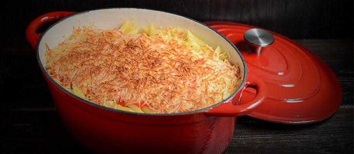 Receta de macarrones con carne picada al queso azul