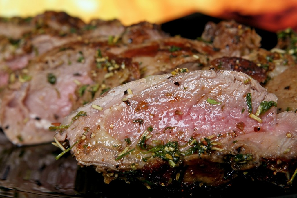 Carne adobada brasa