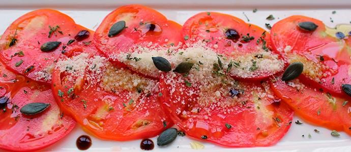 receta carpaccio tomate