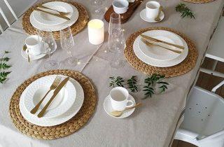 Viste tu mesa para Navidad con Amparo Las Nubes
