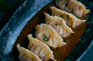 Gyozas pulled pork